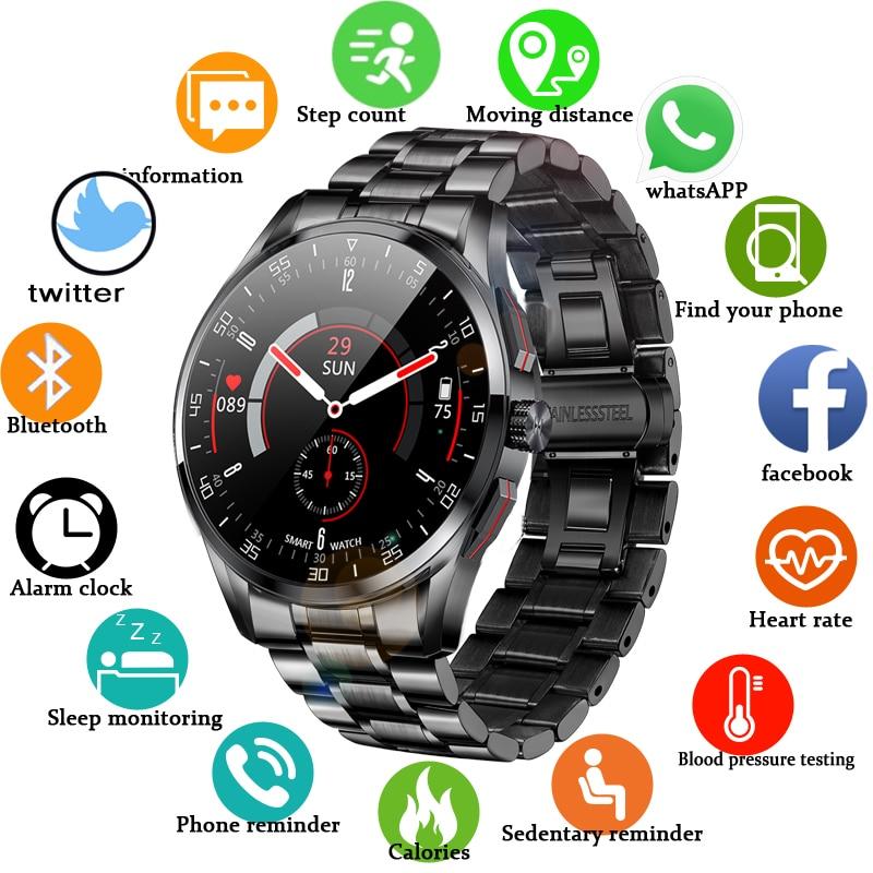 Men smart watch can Answer dial Bluetooth Call IP68 waterproof Sport watch 2021 New steel band smartwatch men for Samsung Huawei