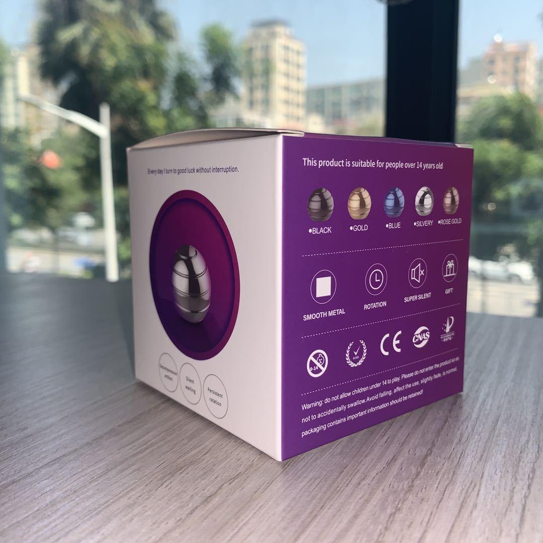 2020 New Desktop Decompression Rotating Spherical Gyroscope Kinetic Fidget Optical Illusion Flowing Finger adult Desk Toy in box enlarge