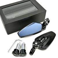 universal motorcycle 22mm bar end side rearview mirror 2pcs aluminum 78 motorbike bike handlebar rear view mirrors