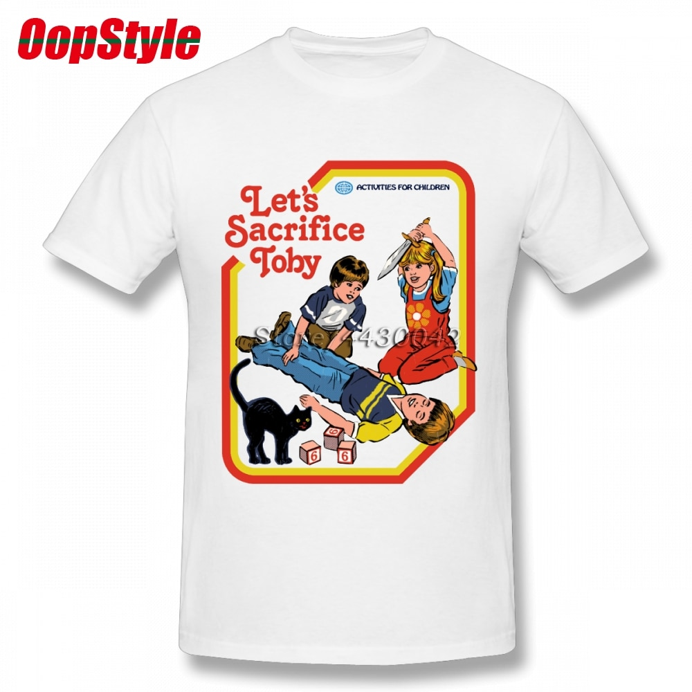 Camiseta de diablo de Horror para hombre de manga corta de algodón de talla grande para hombre