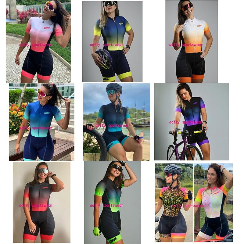 XAMA-Conjunto de Ropa de Ciclismo profesional para Mujer, Maillot de triatlón corto,...