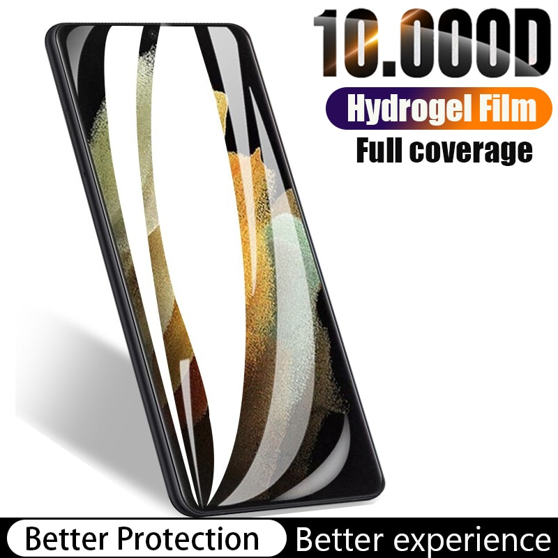 Hydrogel Film For Samsung Galaxy S21 Ultra Screen Protector S9 S8 S10 S20 FE Plus Not Glass S 21 9 8