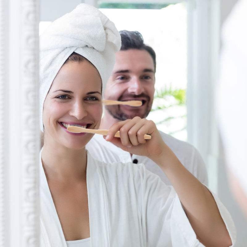 Экологически чистая зубная щетка, Бамбуковая зубная щетка, сменная ротовая щетка, Naturale Puro di Bambù Portatile Spazzolino