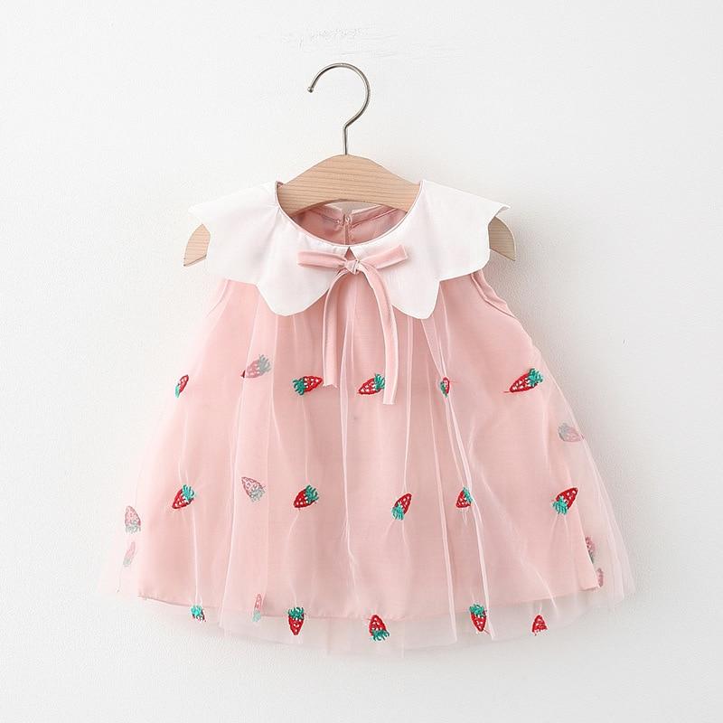 2021 Newborn Baby Girls Dress Summer Princess Dress for Girl Kids Clothes Embroidery Newborn Baby Dress Spring 6M 12M 24M