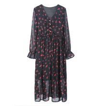 Envsoll-robe de maternité en mousseline   Vêtements de grossesse, printemps 2020, longue robe forale imprimée, vêtements de maternité pour femmes enceintes