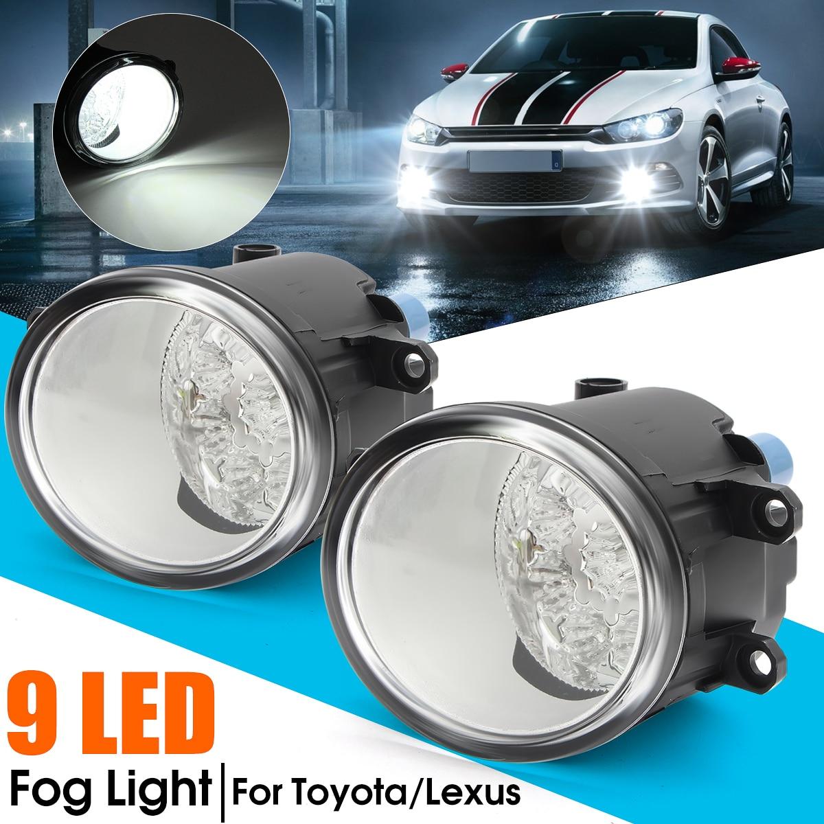 2 шт. 9 светодиодных противотуманных фар для Toyota Corolla Camry Yaris Vios RAV4 для Lexus RX350 RX450 LX570