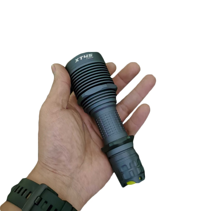 Amotorch XT45 SST40, 2100LM, 700M, linterna LED compacta EDC de largo alcance, antorcha táctica 21700 potente, linterna a prueba de agua IPX8