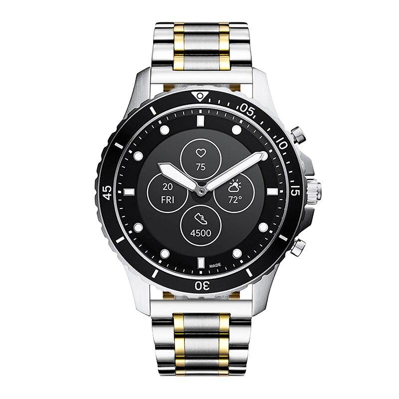 Pulseira de relógio para fossil gen pro correias gen 2 3 4 pulseira híbrido smartband correa pulseiras de aço inoxidável para garmin lg