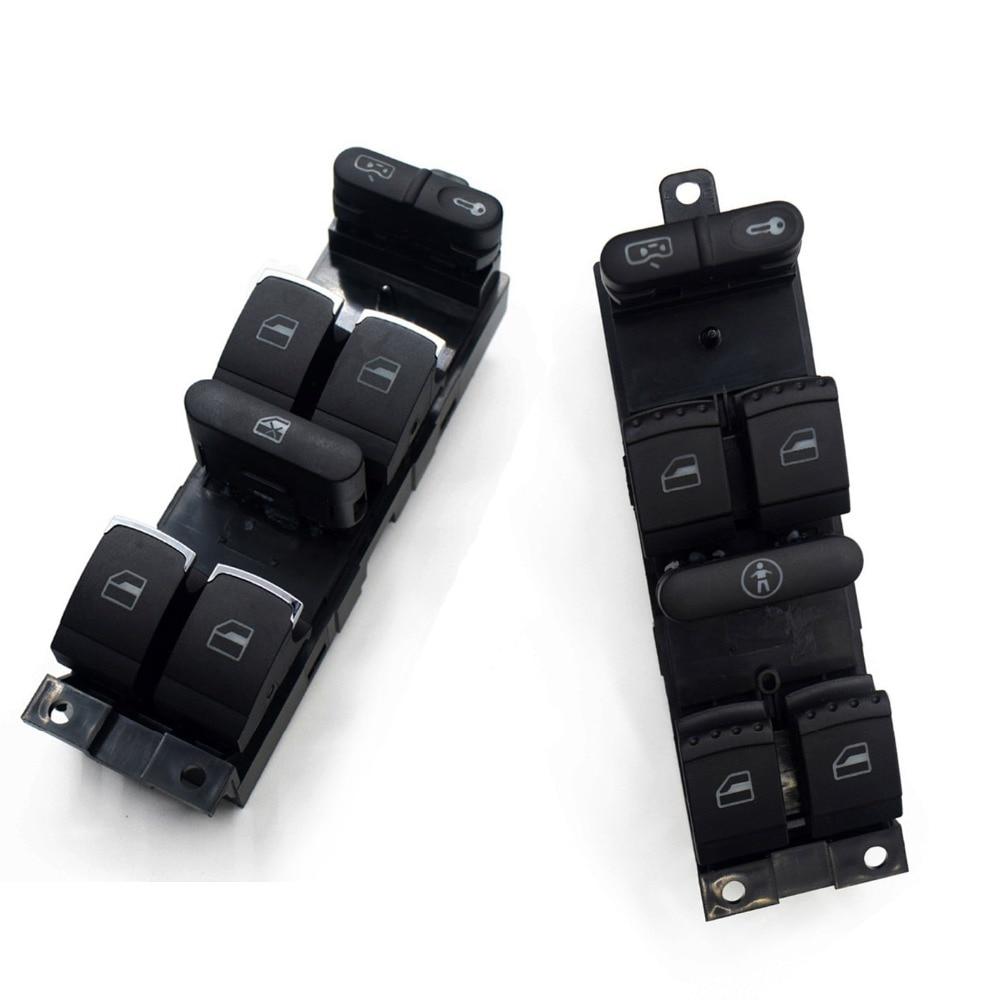 1J4959857A Master Power Window Switch for VW Golf MK4 Bora Seat Skoda Octavia MK1 Fabia 1J4 959 857A 1J4 959 857 A Green Light