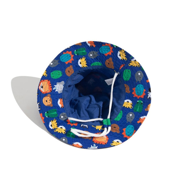 Summer Hat Boy Beach Kids Girl Sun Big Brim With String Sun Protection Breathable Accessory Holiday Outdoor Cap  - buy with discount