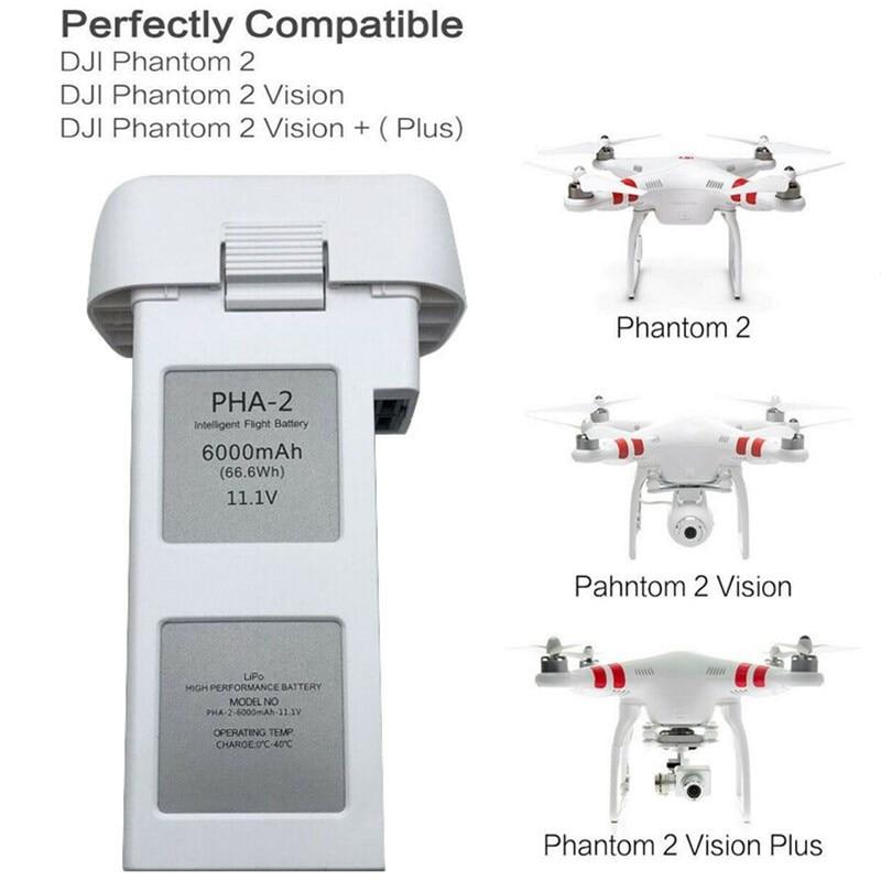 11,1 V 6000mAh li-polymer Drone, batería con luces de batería, Compatible para...