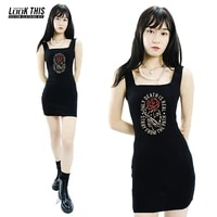 gothic sleeveless bodycon mini dress basic women summer summer womens dress 2021 clubwear 2020 dresses vestidos sundress