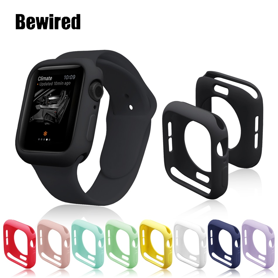 case for apple watch se 6 5 4 3 2 1 38mm 40mm watch cover protective case carbon fiber pattern pc case for iwatch 6 se 42mm 44mm Soft Silicone Watch Cover Case for Apple Watch SE 6/5/4/3/2/1 38MM 40MM Protective Case for iWatch Series 42MM 44MM