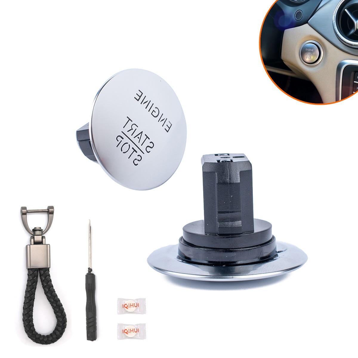1 conjunto de empurrar para iniciar o botão keyless go início do motor topo para MERCEDES-BENZ com ferramenta e corrente chave 2215450514 2215450714