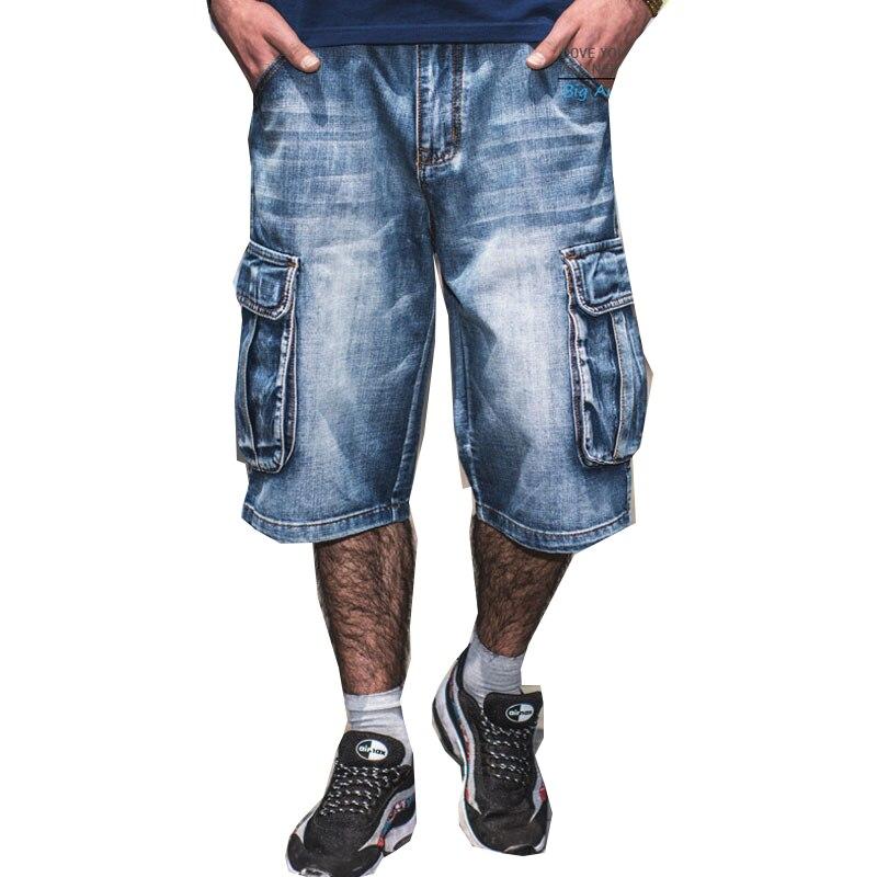 الرجال حجم كبير فضفاض فضفاض السراويل الرجال الفتيان الهيب هوب سكيت السراويل مغني الراب السراويل الأزرق الهيب هوب