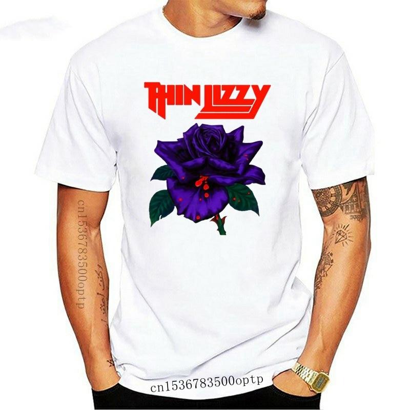 New 2021 Rare Thin Lizzy Black Rose Rock Band Men'S T-Shirt S To 2Xl Harajuku Tops Fashion Classic Tee Shirt
