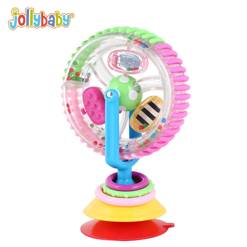 Jollybaby bebé noria sonajero Tricolor multitáctil giratorio 0-12 meses silla creativa juguetes educativos para niños