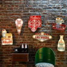 Vintage Las Vegas Led Licht Neon Borden Voor Bar Pub Thuis Restaurant Cafe Verlichting Teken Muur Opknoping Decoratie Led Borden n052