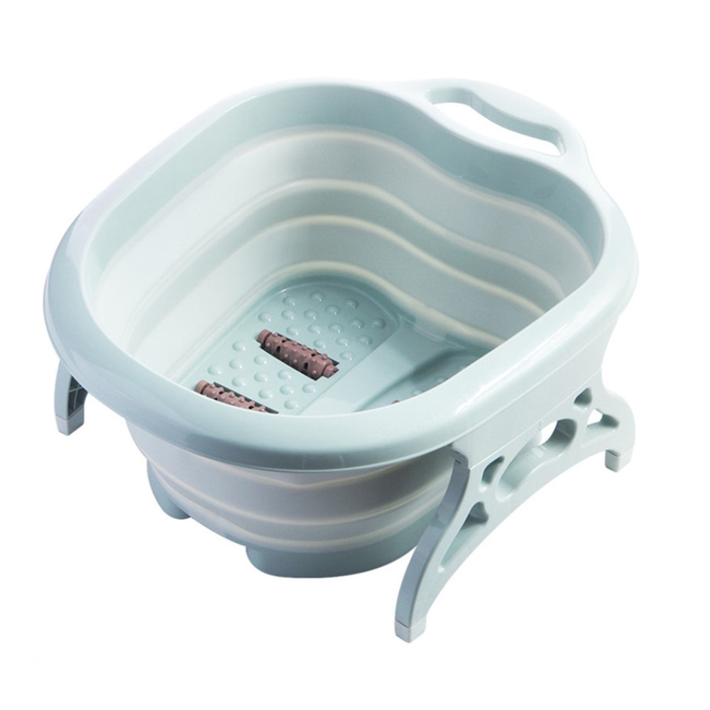 Hogar pies remojadores Cubo de pie plegable Sauna bañera pedicura lavabo baño suministros de baño con masaje para los padres