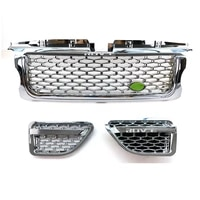 front bumper grille chrome plating hood grill and air flow vent fender for land rover range rover sport 2006 l320
