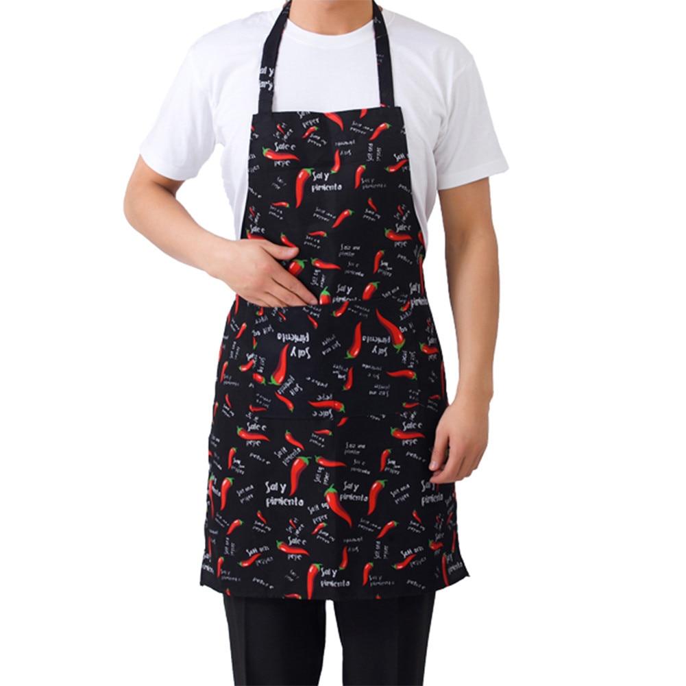 Hot Cooking Kitchen Apron For Woman Men Chef Waiter Cafe Shop BBQ Hairdresser Aprons Bibs Kitchen Accessory Adjustable Apron