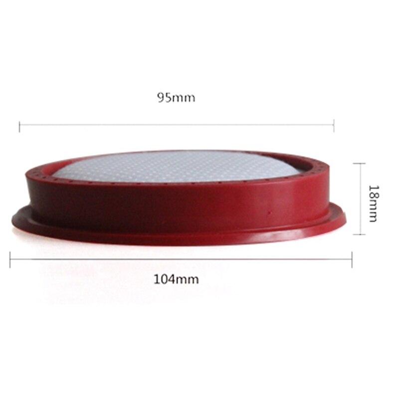 Dibea-Aspirador de mano D18 D008Pro, filtro redondo lavable, filtro de malla, 2 unidades