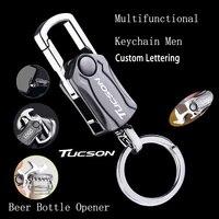 car key chain with logo alloy car multifunction keyring for hyundai tucson nx4 2021 2016 2015 2018 2019 2017 2020 accessories