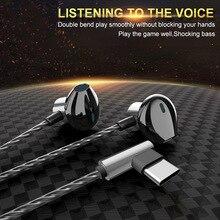 Casque filaire en métal écouteurs filaires jeu casque filaire type-c casque intra-auriculaire écouteurs confortables pour téléphone portable
