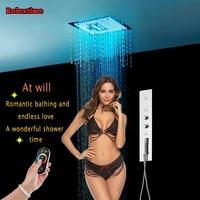crystal quartz led ceiling shower head bathroom shower set multifunction mixer concealed thermostatic shower faucet massage jets