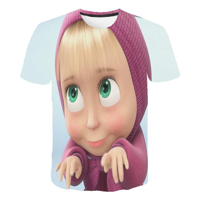 Martha's 3D printed T-shirt girls and boys 2020 children's personalized cartoon printed T-shirt fashion children's wear printed t shirt neonato blumarine printed t shirt