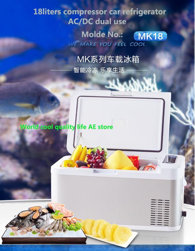 Refrigerador de coche de 18l, refrigerador automático AC/DC12V24V, Mini compresor portátil para refrigerador de coche, refrigerador de coche para 4x4Camping