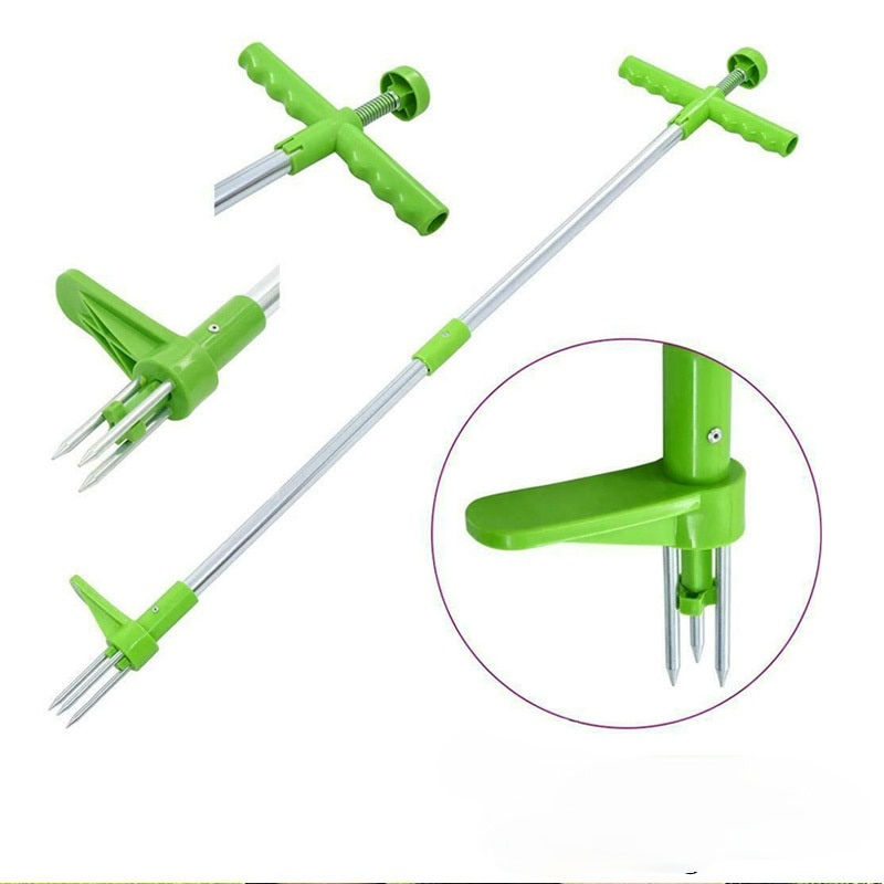 Multifunctional Vertical Weeder Garden Grass Root Cleaning Tool Gardening Weeder Mobile Foot-operated Garden Cleaning Tools