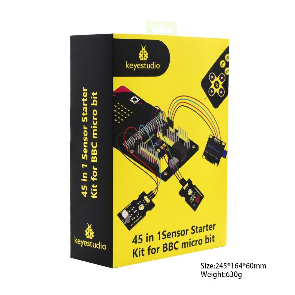 Keyestudio Micro bit 45 in 1 Sensor Starter Kit For BBC Micro:Bit Kit Programming Kit (Without Micro:Bit Board) enlarge