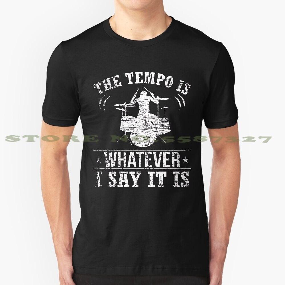 Drummer Tempo negro blanco camiseta para hombres mujeres Drummer Band instrumento Musical regalo Idea baquetas músico tambores música