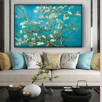 almond blossom canvas paintings by van gogh impressionist flowers wall art posters and prints canvas picture for living room