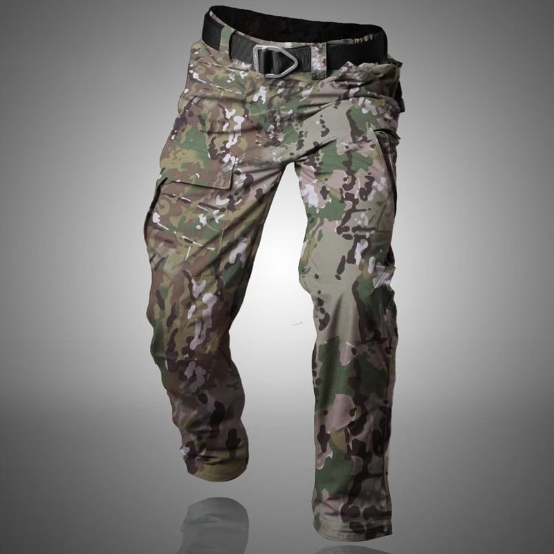 2019 Outdoor Tactical Miliatry Campeggio Pantaloni da Trekking Uomo Impermeabile Quick Dry Rip-Stop Pantaloni Multi-Tasche