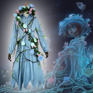 Game Identity V Cosplay costumes Gardener Survivor Emma Woods Cosplay Costume Ghost Girl Skin Uniforms Suits Clothes Dresses Hot