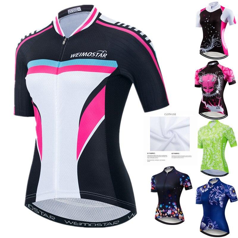 Weimostar-Camiseta para bicicleta de montaña para Mujer, Ciclismo de Carretera de verano,...