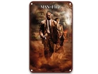 man on fire 2004 movie retro metal tin signs movies retro home decor for wall art 8x12 inches