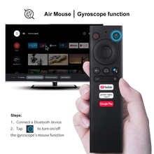 Meccol V01 Air Mouse с гироскопом 2,4 ГГц беспроводной Bluetooth ИК-обучающий голосовой пульт дистанционного управления для KM1 KM3 Smart Android TV Box