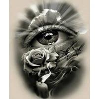 diamond painting eye figure black square diamond round diamond decoration customizable wall art decoration frameless style