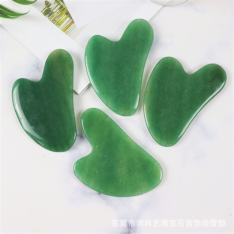 Aventurine Massage Gua Sha Tool Face Care Body Eye Crystal Mineral Stone Massager Health Skin Beauty Lifting And Firming Detox