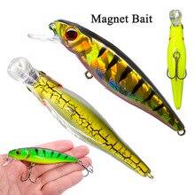 Esca galleggiante per pesciolini con magnete 0.32oz/3.34in esche da pesca trota Crankbaits esche da pesca a pelo lungo 2020 esche da CarpBait per pesci gatto