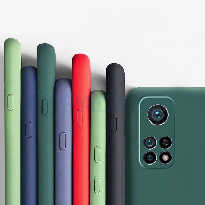 Capa De Silicone líquido para Xiaomi Mi 10 t Pro 5G Caso À Prova de Choque Bumper Cobertura Completa Caso TPU Luxo para Xiaomi Mi 10 t Pro Caso de Lite