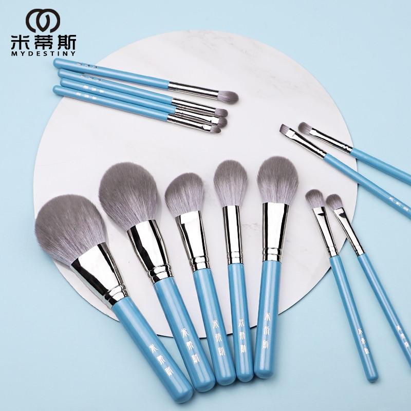 MyDestiny makeup brush/ The Iris series 13pcs high quality synthetic hair brushes set-powder&blush&foundation&eyeshadow&beauty