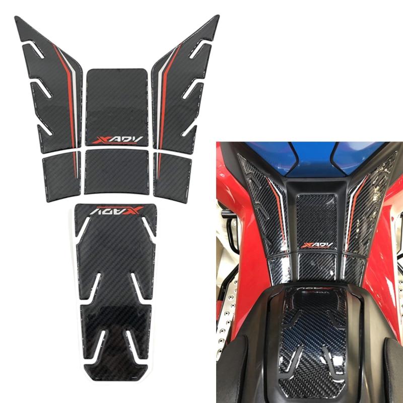Motocicleta 5d fibra de carbono gel tanque almofada decalque protetor adesivos apto para honda xadv X-ADV x-adv x adv 750 tanque adesivo