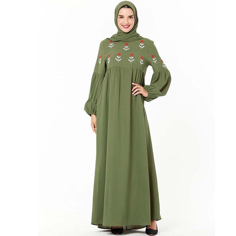 Verde Árabe Abaya Dubai Vestido Dos Muçulmanos Hijab Vestidos Caftan Kaftan Abayas Para As Mulheres Turcas Grote Maten Dames Kleding Baju Muçulmano