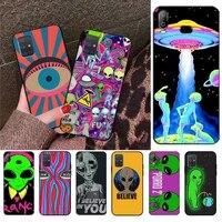 cutewanan aesthetics cute cartoon alien space coque shell phone case for samsung a10 a20 a30 a40 a50 a70 a71 a51 a6 a8 2018