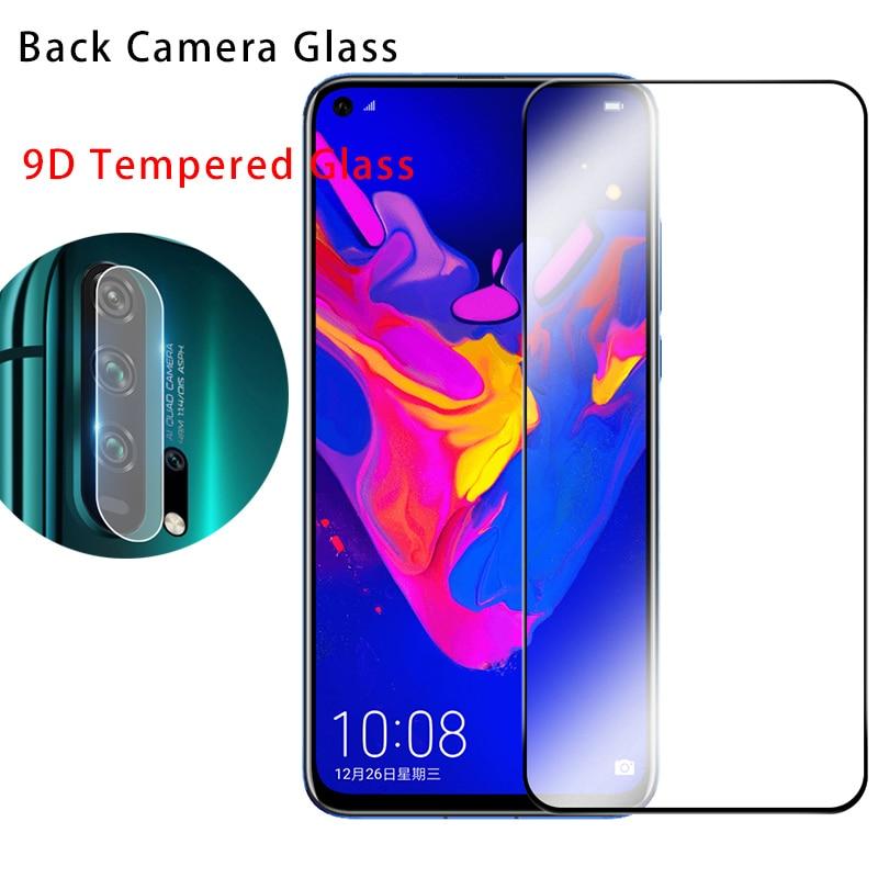 9D Protector de pantalla de teléfono para Honor 8X Max cámara de vidrio templado para Huawei Honor 9X Pro lente de vidrio Protector para Honor 8C 7C