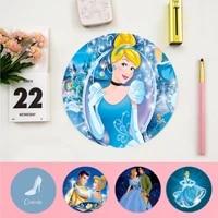 disney cinderella princess beautiful anime round mouse mat computer desk mat for gaming